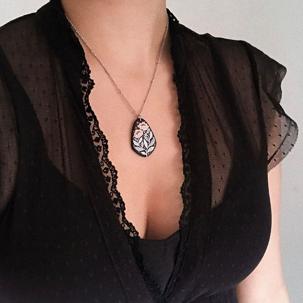 intricate floral gothic necklace