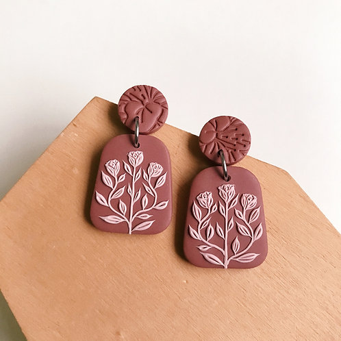 Polymer Clay Dangly Earrings Stainless Steel (4)