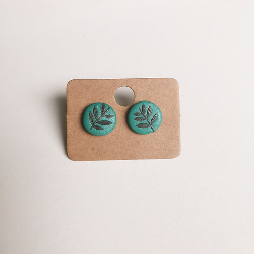 Polymer Clay Studs #4 Stainless Steel
