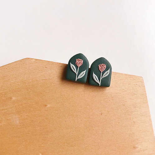 Mixed Restock Polymer Clay Stud Earrings Stainless Steel (3)