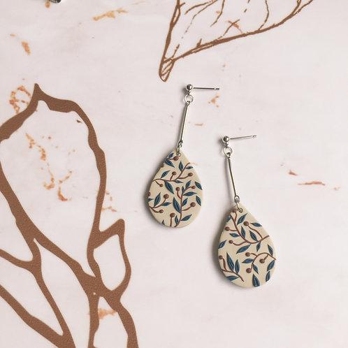 """Charlotte"" Polymer Clay Medium Teardrop Dangle Earrings"