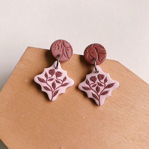 Polymer Clay Dangly Earrings Stainless Steel  (13)