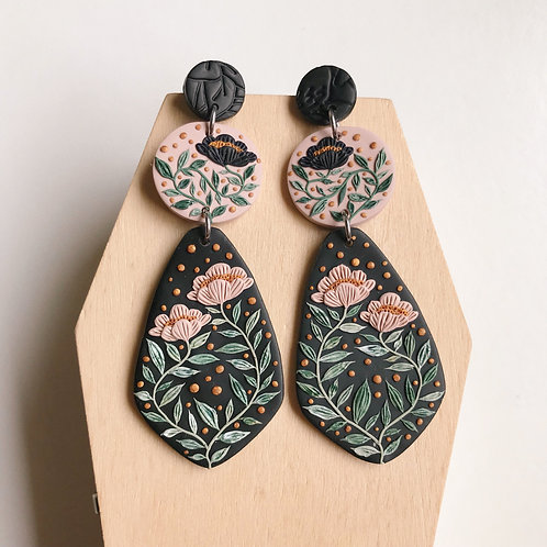 #2 Polymer Clay Dangly Earrings Stainless Steel