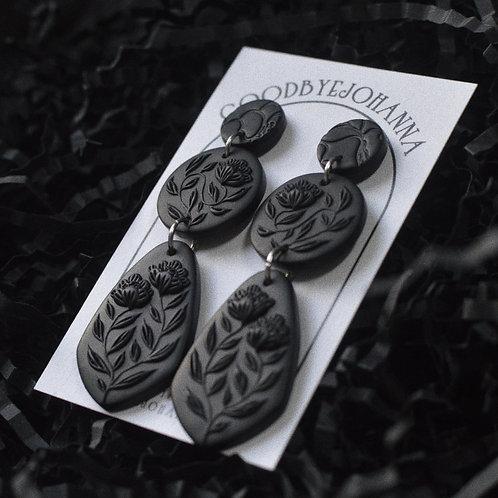 PREORDER Black Monochrome Earrings (7cm)