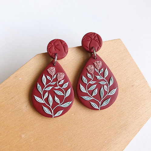 Autumn Collection Polymer Clay Earrings Stainless Steel (3)