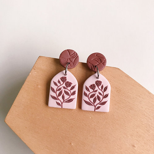 Polymer Clay Dangly Earrings Stainless Steel (10)