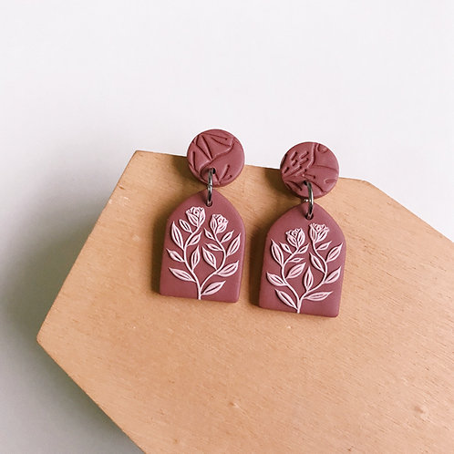 Polymer Clay Dangly Earrings Stainless Steel (9)