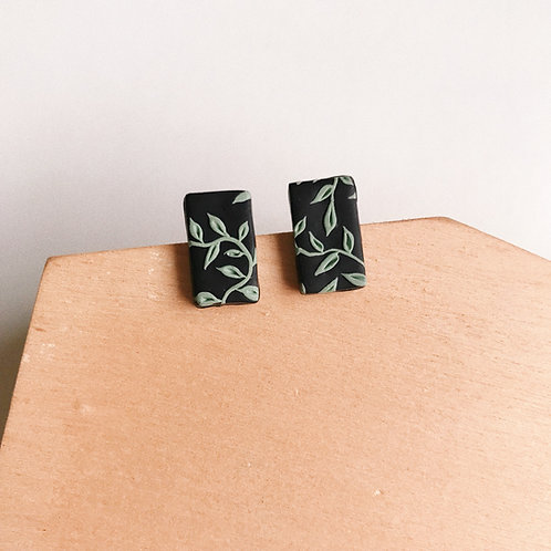 Halloween Rectangle Mint #1 Polymer Clay Stud Earrings
