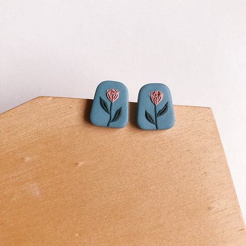 Mixed Restock Polymer Clay Stud Earrings Stainless Steel (15)