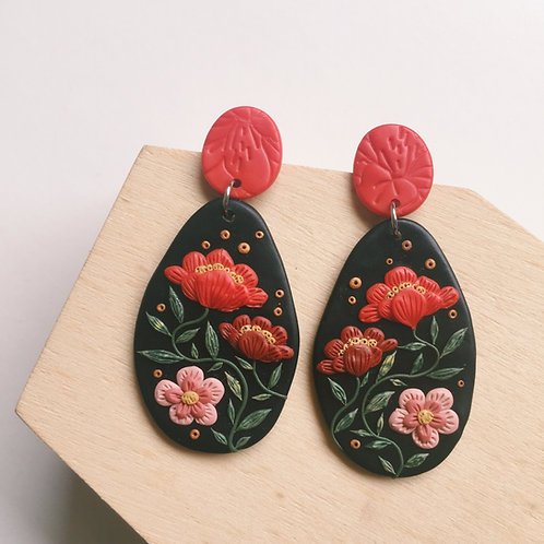 """Freda"" Polymer Clay Stainless Steel Earrings"