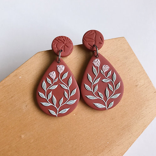 Autumn Collection Polymer Clay Earrings Stainless Steel (10)