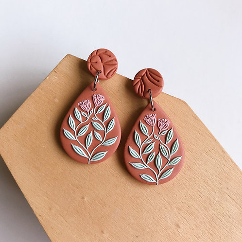Autumn Collection Polymer Clay Earrings Stainless Steel (18)