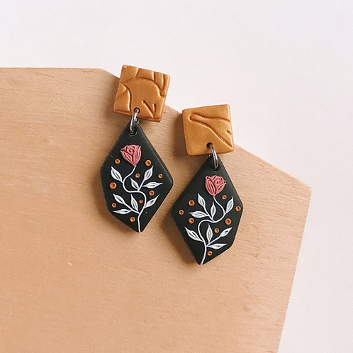 Polymer Clay Dangly Earrings Stainless Steel 5