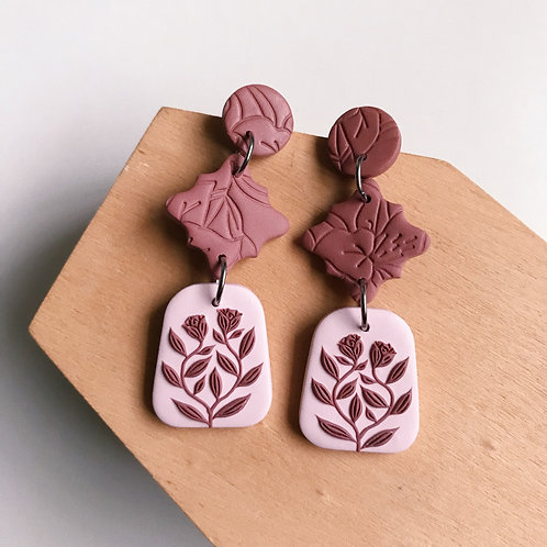 Polymer Clay Dangly Earrings Stainless Steel  (16)