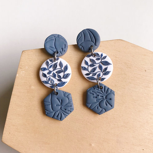 #3 Polymer Clay Dangly Earrings Stainless Steel