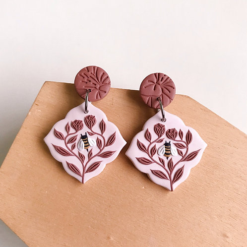 Polymer Clay Dangly Earrings Stainless Steel (1)
