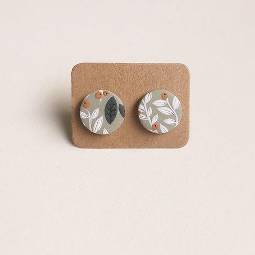 Polymer Clay Stud Earrings Stainless Steel 1.2cm