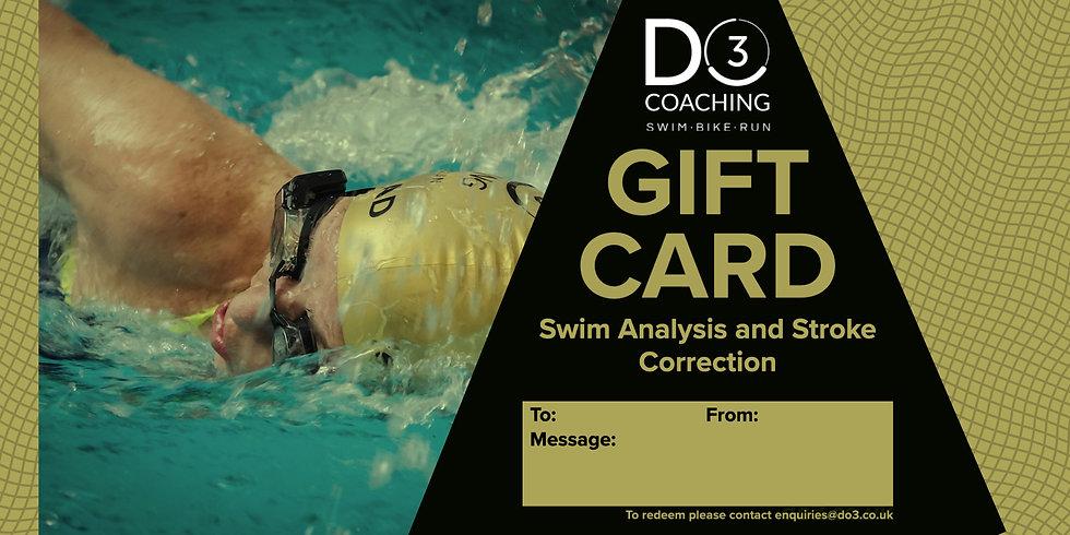 Gift Card - Swim Analysis and Stroke Correction