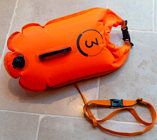Do3 tow float and dry bag - hi-vis orange