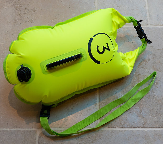 Do3 tow float and dry bag - hi-vis yellow