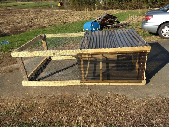 How We Made A Mobile Chicken Coop AKA Chicken Tractor