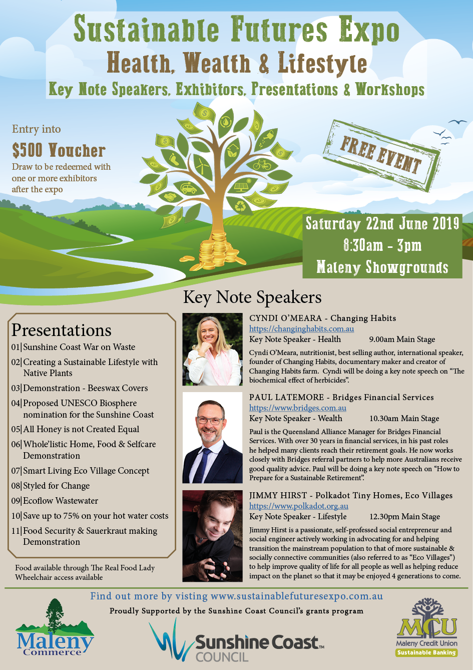 News | About | Sustainable Futures Expo | Maleny