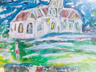 Eglise Style Van Gogh