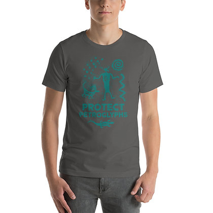 Protect Petroglyphs-TURQUOISE  t. shirt