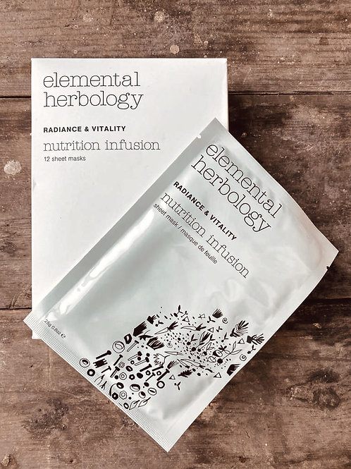 ELEMENTAL HERBOLOGY - NUTRITION INFUSION INDIVIDUAL SHEET MASK (X1)