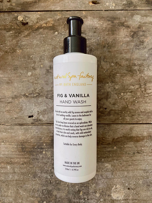 NATURAL SPA FACTORY  FIG & VANILLA HAND WASH