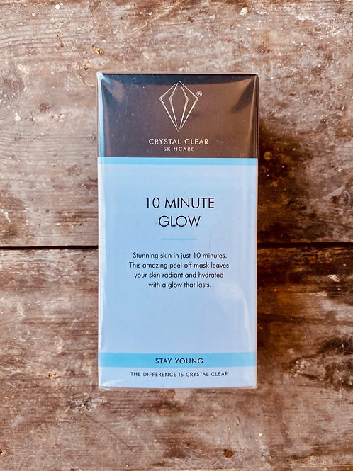 CRYSTAL CLEAR - 10 MINUTE GLOW POWER MASKS
