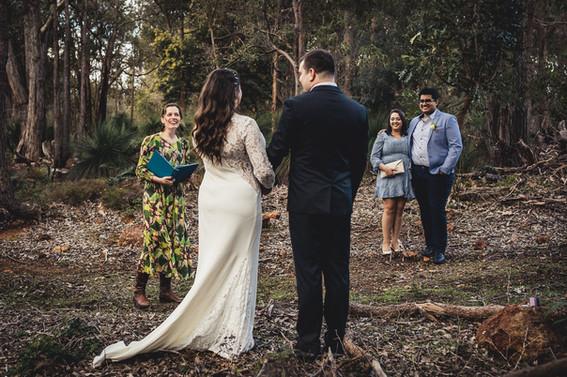 Perth Hills bush elopement