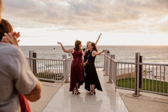 Sunset eco wedding at Perth beach