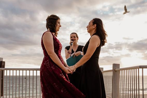 Perth beach sunset eco-wedding