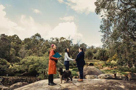Perth Hills Airbnb elopement