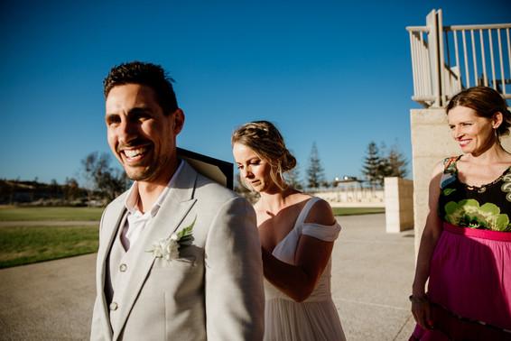 Perth beach elopement