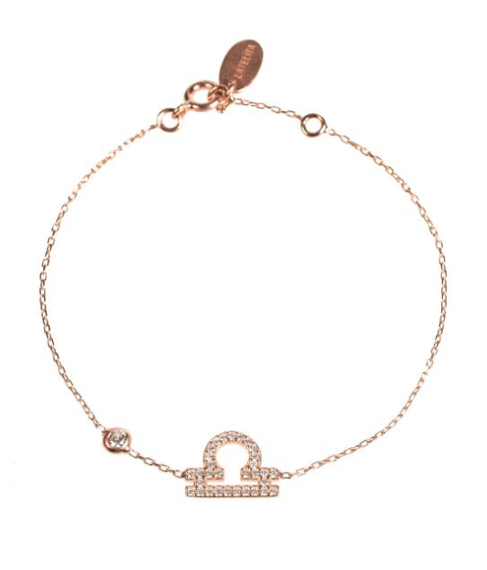 cosmic scales rose gold bracelet