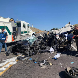 """NEWS - """"Two injured in SR-30 crash Friday afternoon"""""""