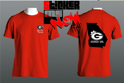 GEORGIA Logo With State On Back