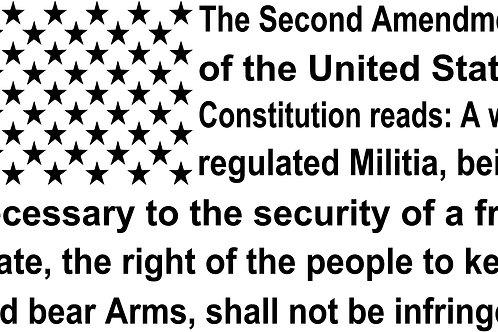 Second Amendment Lower Case Flag