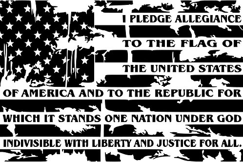 Ripped With Words Flag