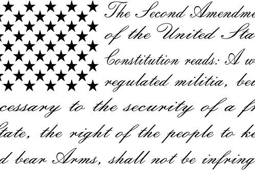 Second Amendment Cursive Flag