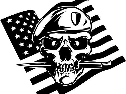 Skull & Knife Flag