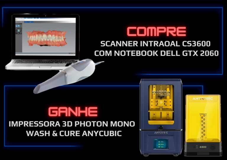 SCAnner intraoal CS3600 com notebook del