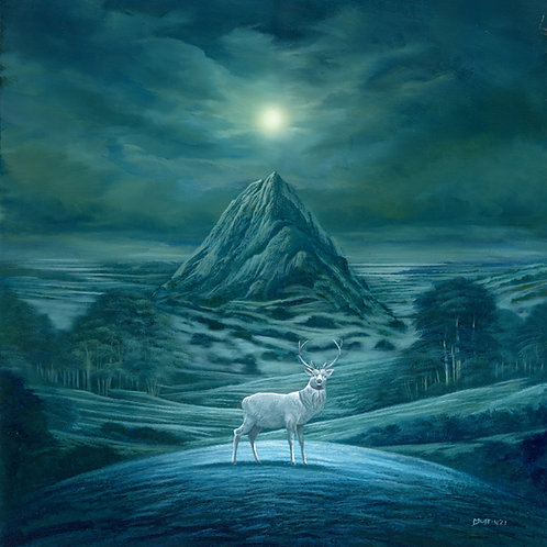 The stag and the moon