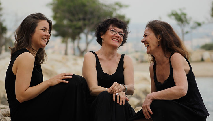 Le trio A Funtana Fanny Châtelain Françoise Roudier Muriel Chiaramonti