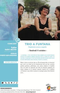 Flyer du concert de Portet-sur-Garonne (31)