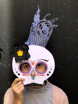 Atelier masque et coiffe d'Halloween