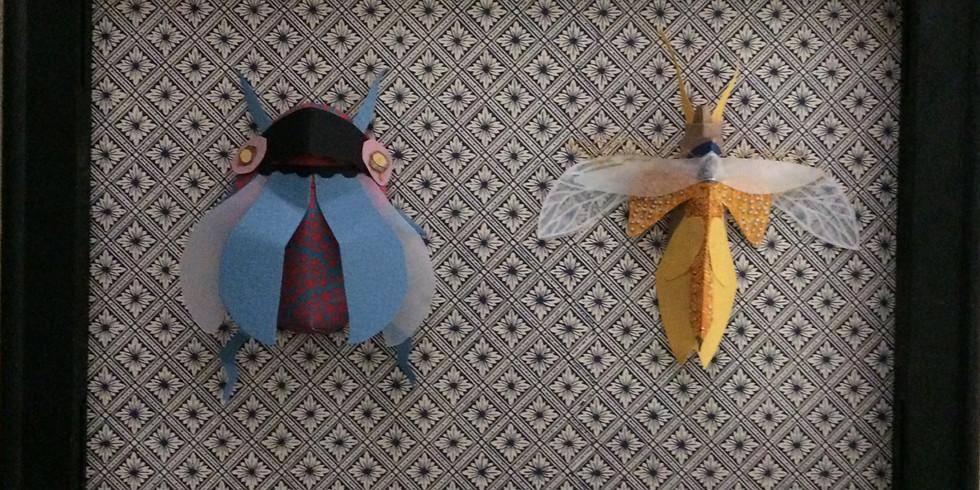 22 juillet fabrication d'une planche d'inspiration entomologique