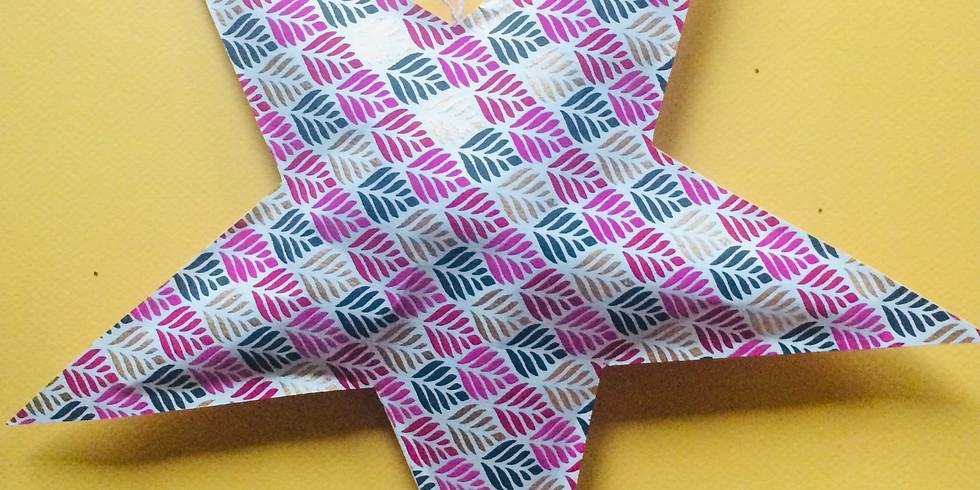 KIT CREATIF  L'étoile en papier artisanal